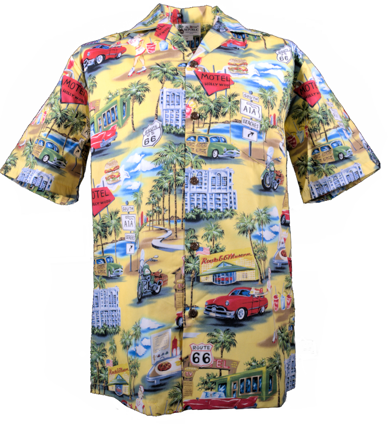 Original Hawaiihemd -Route 66-