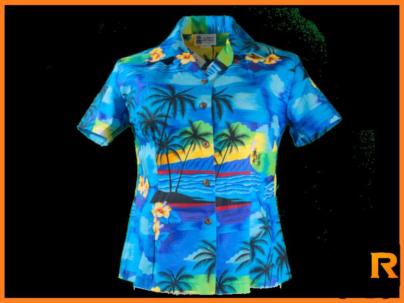 Original Hawaiihemd Ladys -Blue Blue Sky-
