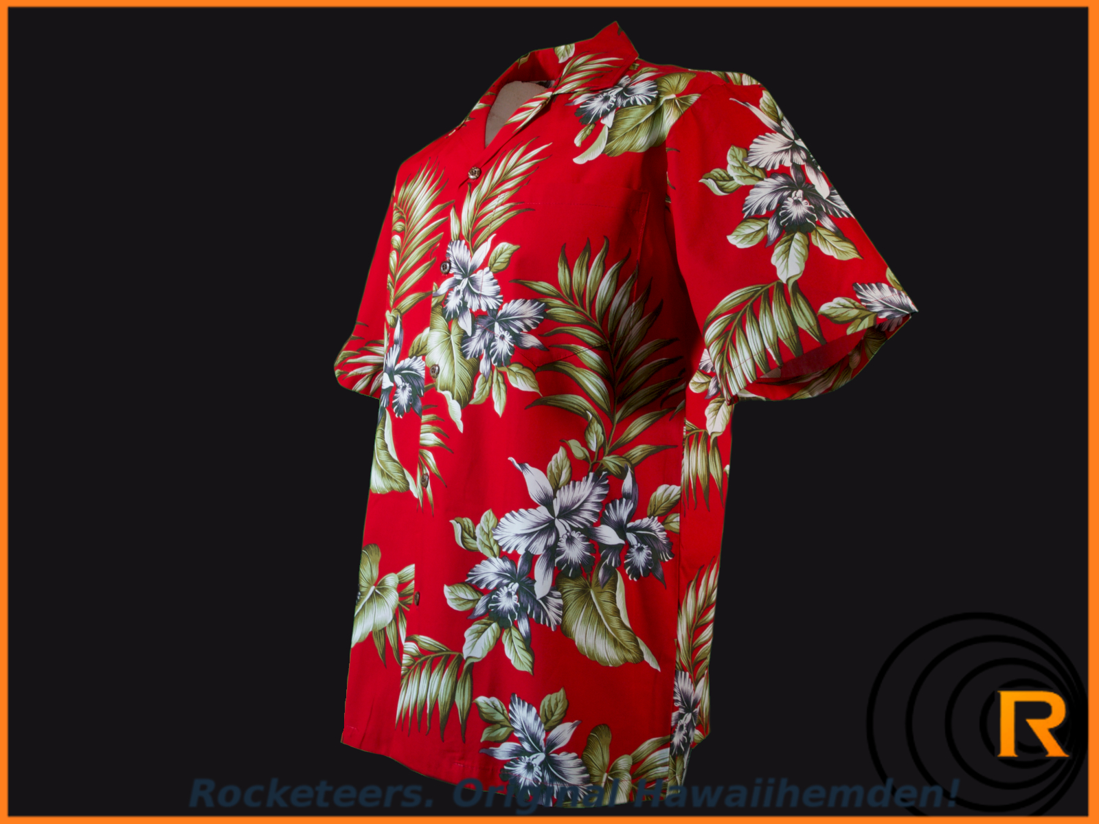 Original Hawaiihemd -Hibiscus Red-