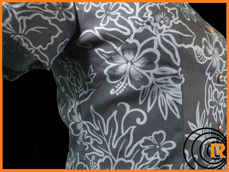 Original Hawaiihemd Ladys -Black Beauty of Hawaii-